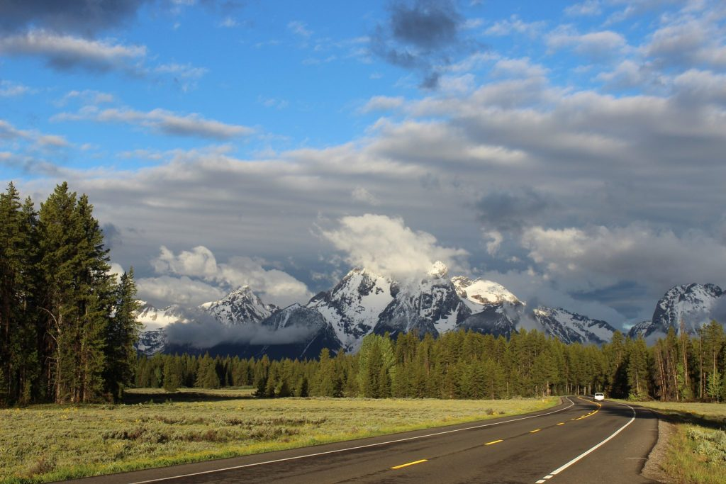 Teton Moutain road