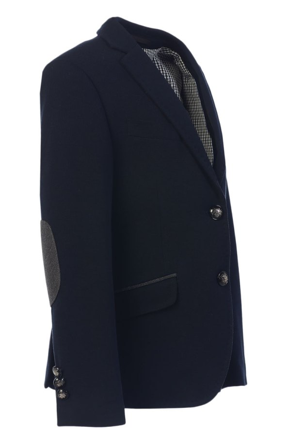 elbow patched blazer for boys