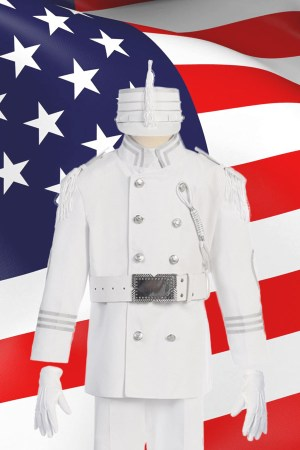 white and silver cadet uniform for boys