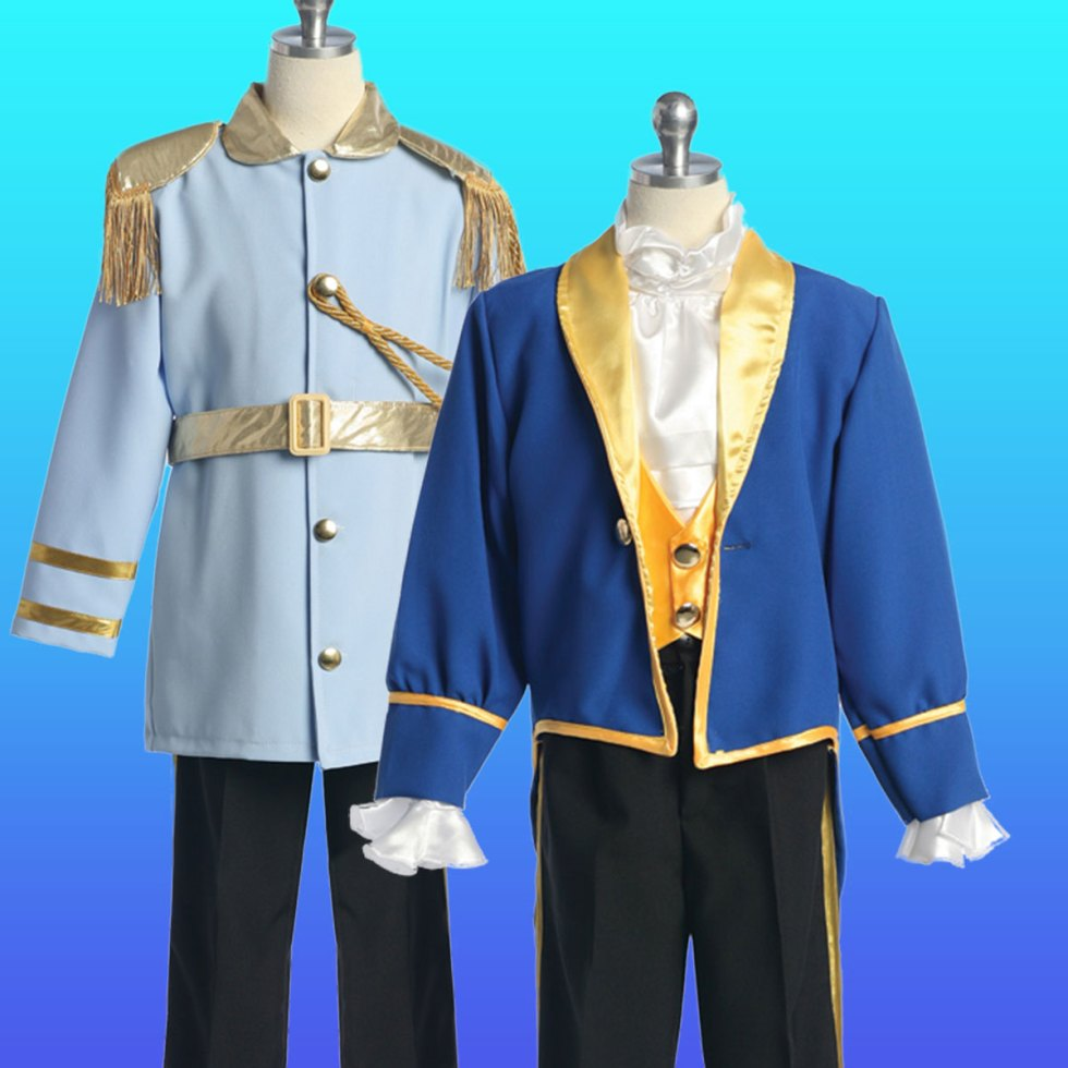 Prince charming and beast costume for boys