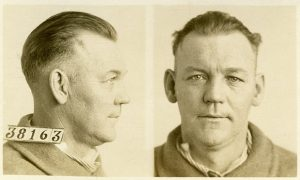 Francis H. Shoemaker was convicted of sending scurrilous and defamatory material through the mail in 1930 and given a suspended one-year sentence. But after he published a gloating account of the trial in his Red Wing Newspaper, the judge changed his mind and sent Shoemaker to prison. (Submitted image: National Archives and Records Administration/Leavenworth Penitentiary)