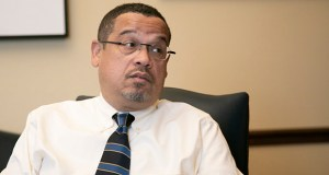 Attorney General Keith Ellison has indicated he would support an agreement that allows individuals who might be falsely accused of molestation to keep their names under seal. (File photo: Kevin Featherly)