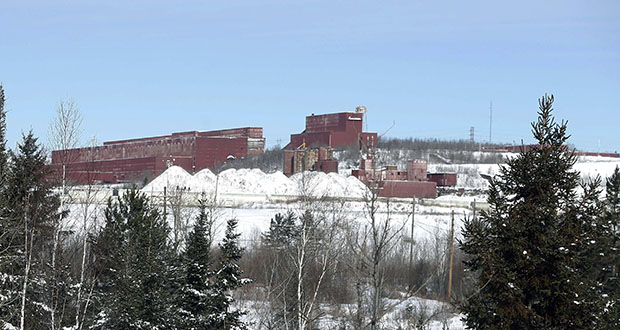 The LTV Steel taconite plant stands abandoned near Hoyt Lakes in this February 2016 photo. (AP file photo: Jim Mone)
