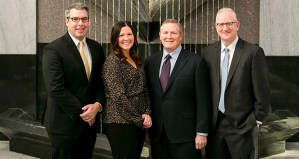 Attorneys from left Andy Noel, Katie Bennett, Bob Bennett and Marc Betinsky are bringing their civil rights practice to Robins Kaplan. (Submitted photo)