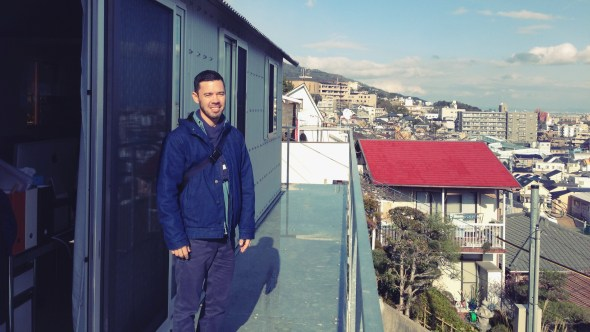 On the balcony of House in Rokko