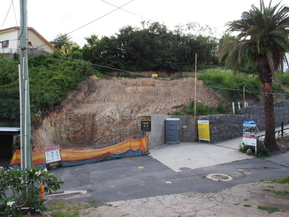 My cleared site and my neighbour's site to the right.