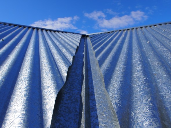 The comfort of corrugated steel.