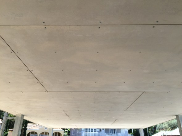 The grid of screws.