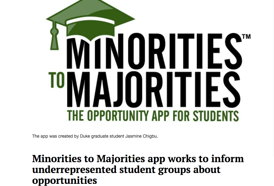 Minorities to Majorities app works to inform underrepresented student groups about opportunities
