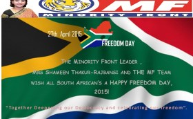 Freedom day 2015, 27th April.