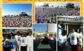 Minority Front Leader at the 2015 International Yoga Day ,Durban