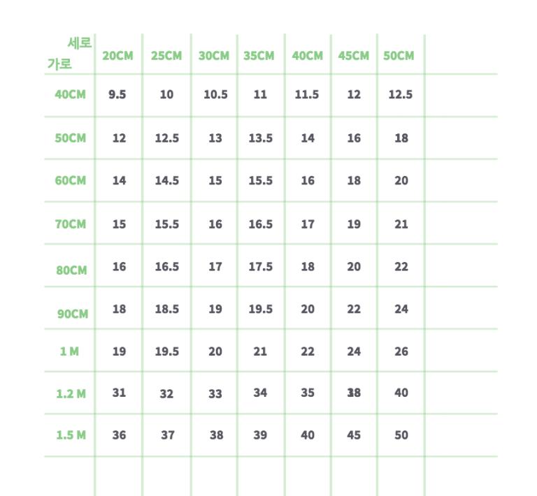 아크릴 조명 제작 비용 단가표
