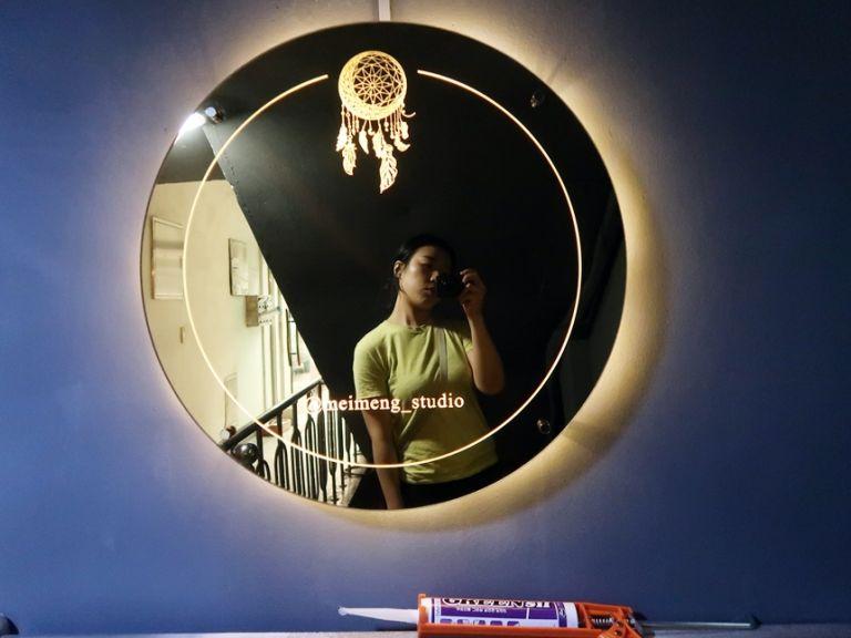 실내간판 골드미러 거울간판 021외부간판 LED간판 LED사인 거울사인