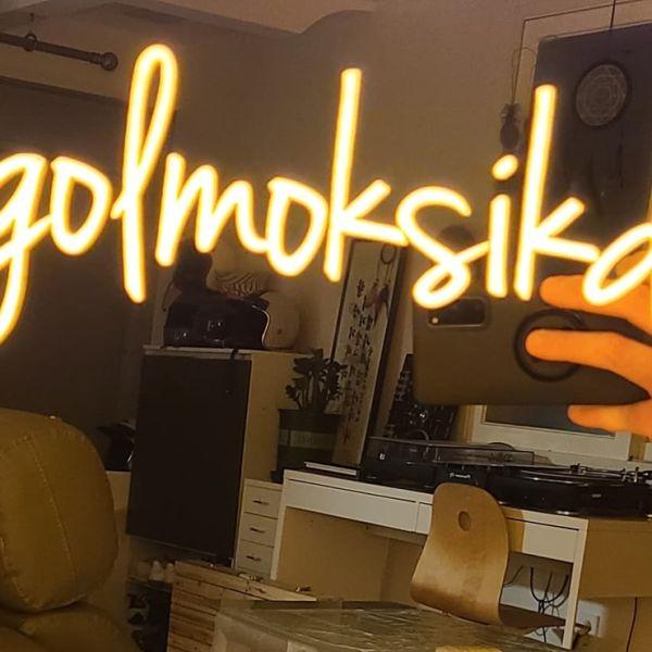 후광간판 LED거울 거울간판 LED조명거울 004 셀카존 포토존 미러사인 거울후광 후광사인 거울디자인