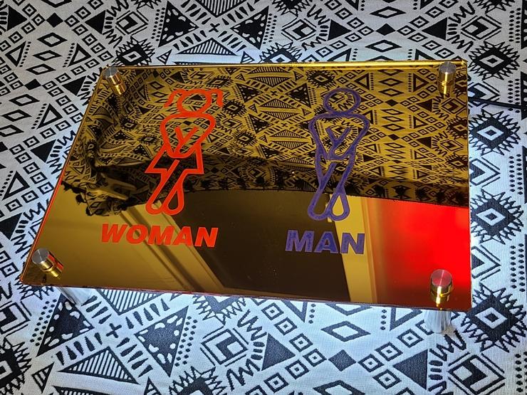 후광간판 LED거울 거울간판 LED조명거울 014 셀카존 포토존 미러사인 거울후광 후광사인 거울디자인