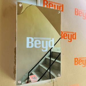 후광간판 LED거울 거울간판 LED조명거울 016 셀카존 포토존 미러사인 거울후광 후광사인 거울디자인