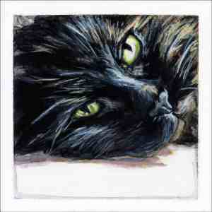 painting of a tortises shell cat