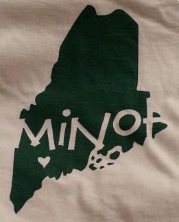 Minot Maine Logo Gear from Poor Morgan's Screen Printing