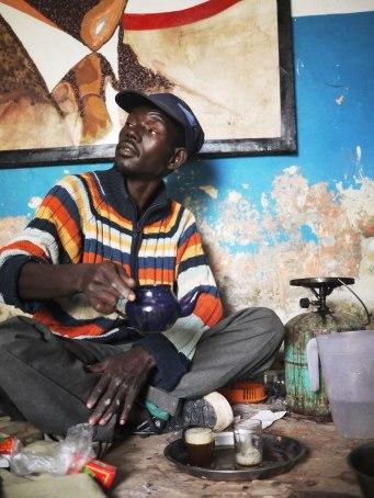 Här i ett konstnärskollektiv i Nouakchott.