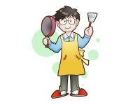 男性の料理