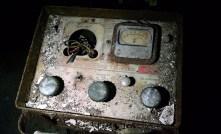 The machine's panel.