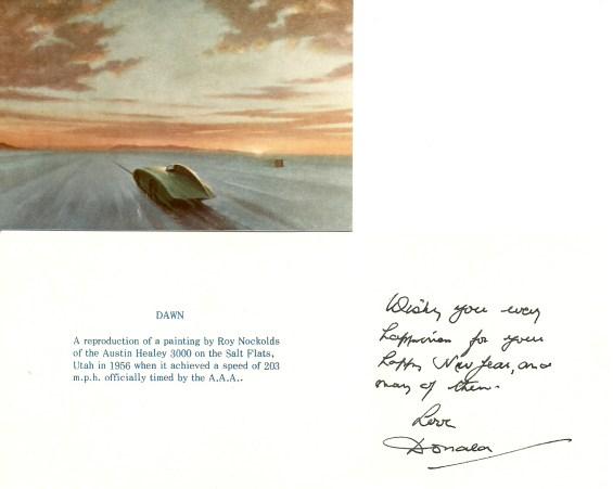 Donald Healey Card