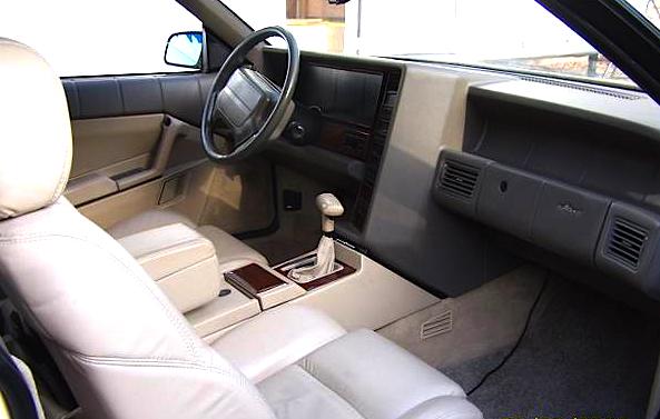 1993 Cadillac Alante int