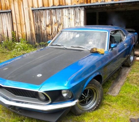 69 Ford Mustang Boss 302 barn