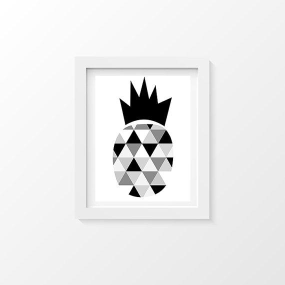 Affiche Scandinave Et Graphique Ananas Decoration Printable Home