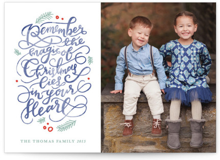 The Magic of Christmas Christmas Photo Cards