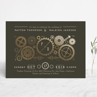 Foil Pressed Wedding Invitations
