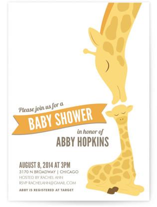 Giraffe Baby Shower Invitations