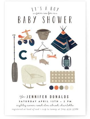 Baby Boy Things Shower Invitation