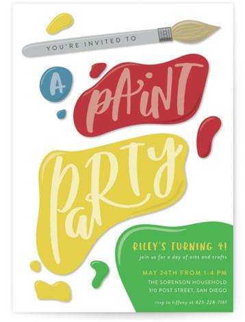 crafts birthday party invitations