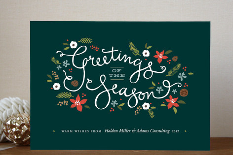 Greetings Of The Season Business Holiday Cards By Minted