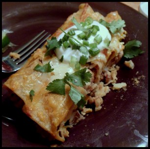 Enchiladas! Make ahead meals via MintGrapfruit.com
