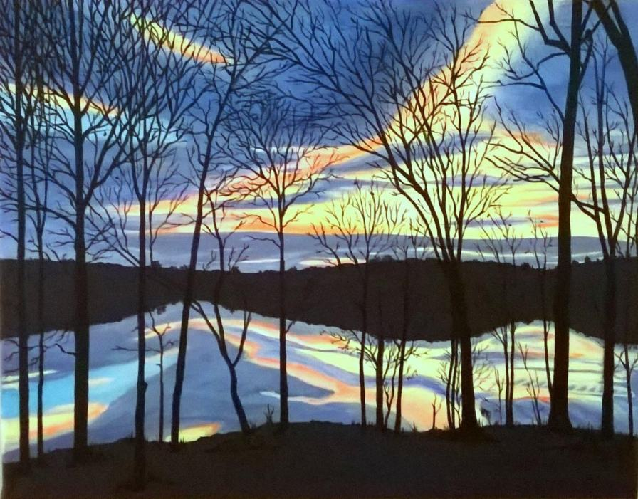 Backyard Sunset - Acrylic