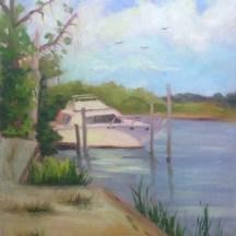 The Marina, Plein Air, oil