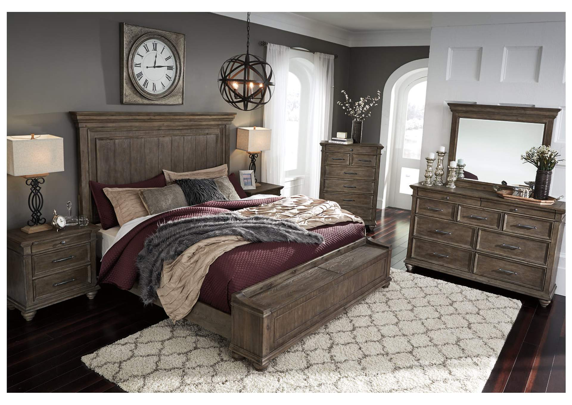 Johnelle Queen Storage Bed W Dresser And Mirror Ashley Furniture Homestore Independently Owned And Operated By Mcphails Furniture
