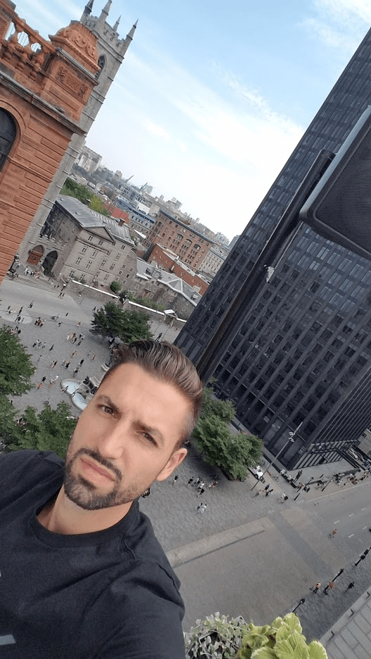Rooftop Terrace Terrasse Place D'Armes near Notre Dame in Montreal - by @danandnatty