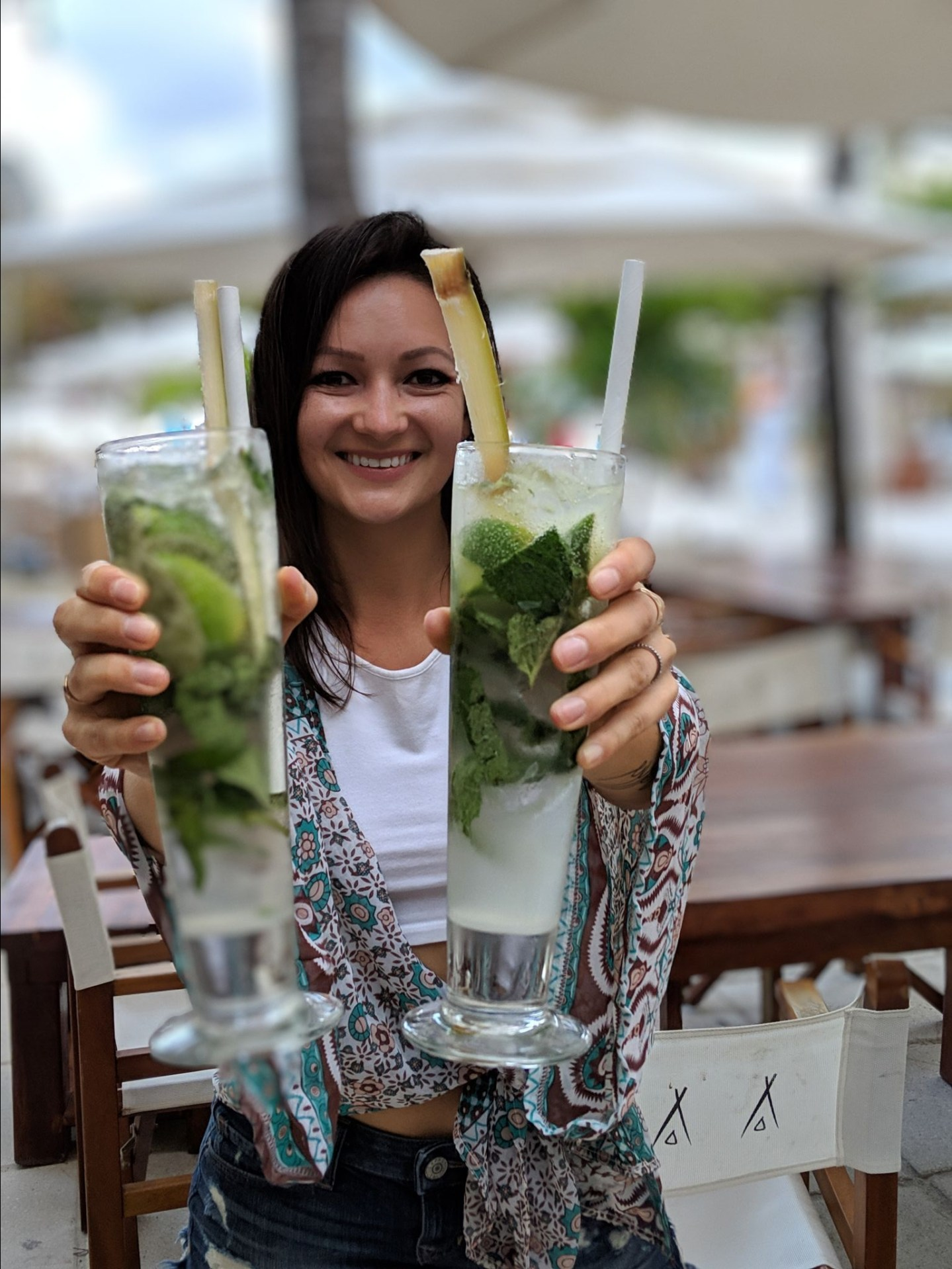 Nikki Beach mojitos in Miami Beach, FL. Cheers