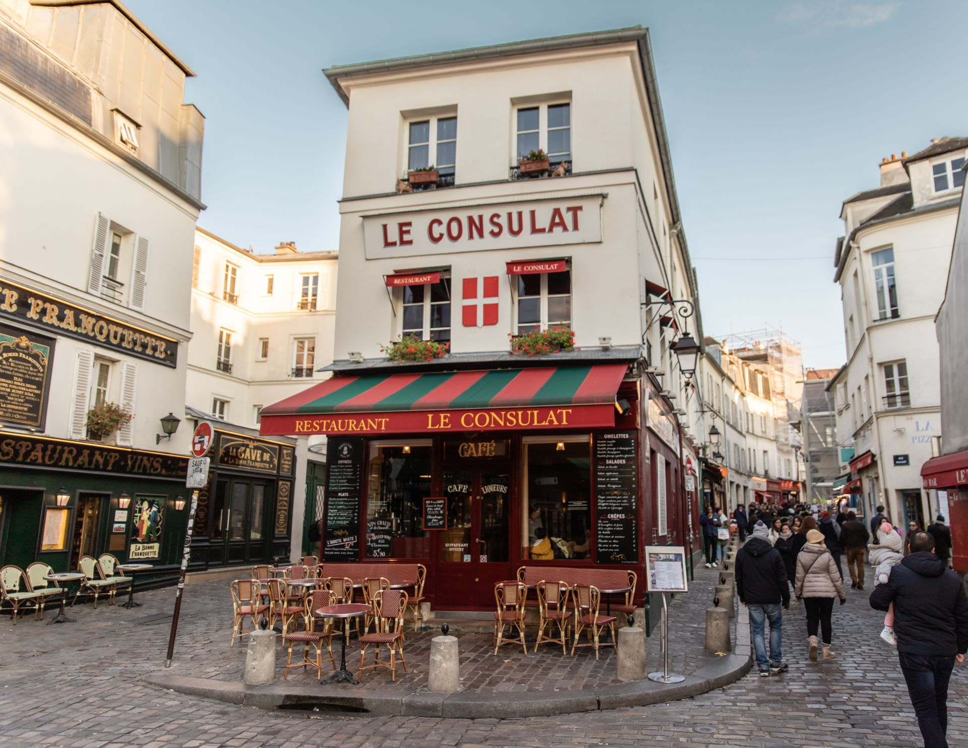 Le Consulat Restaurant in Montmarte neighborhood in Paris France