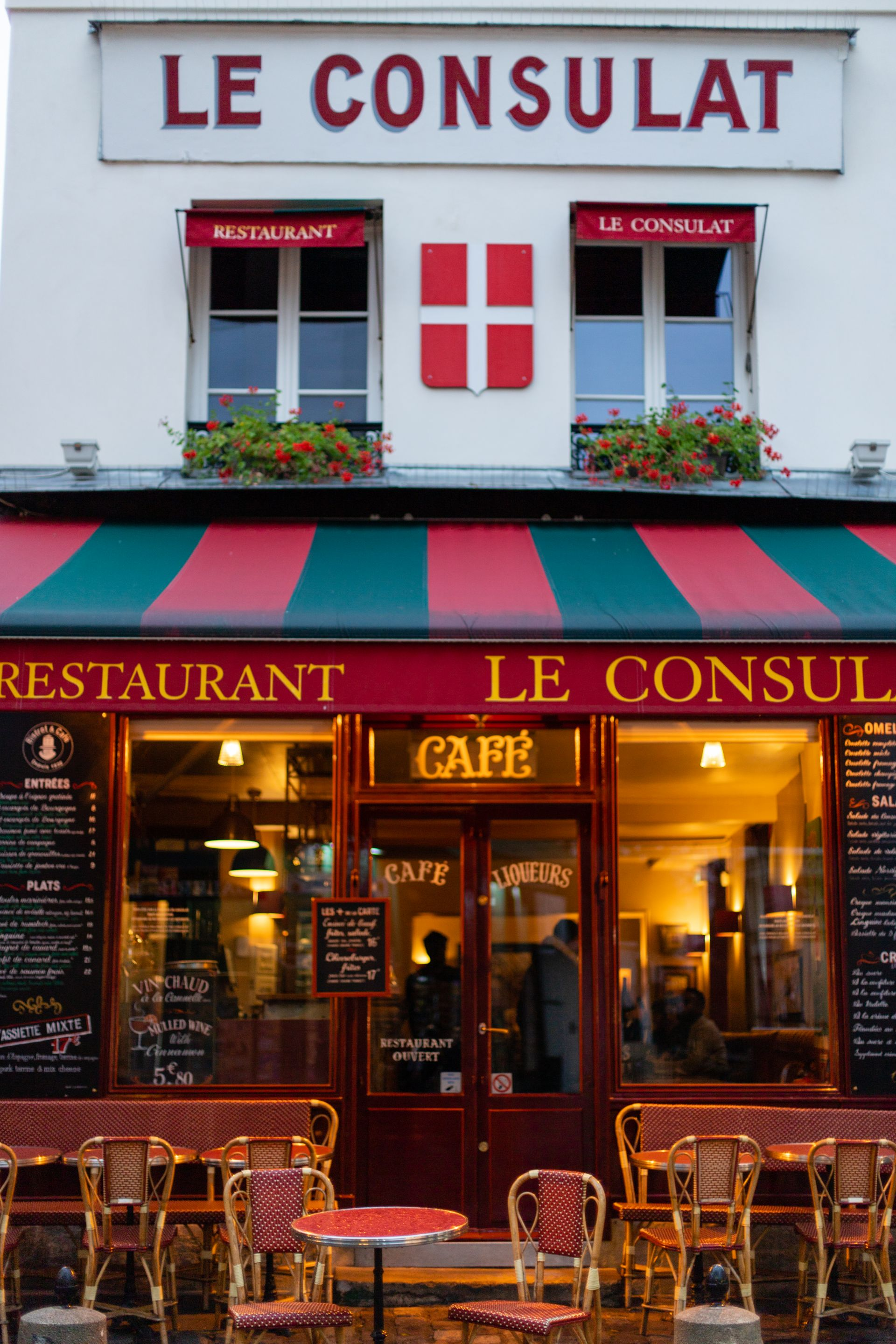Le Consulat Restaurant in Montmarte Paris France
