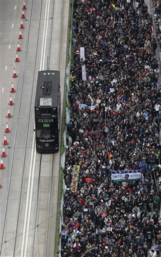 Hong Kong New Year Protest