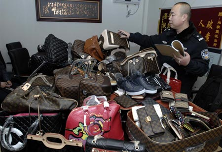 Copy designer bags seized from China