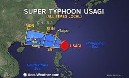 Typhoon Usagi approaches Hong Kong