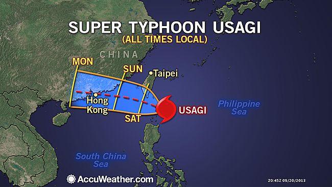 Typhoon Usagi approaches Hong Kong
