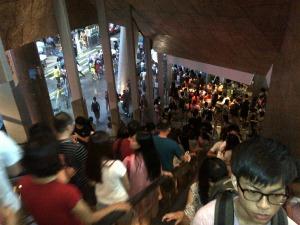 Shopping crowds Hong Kong