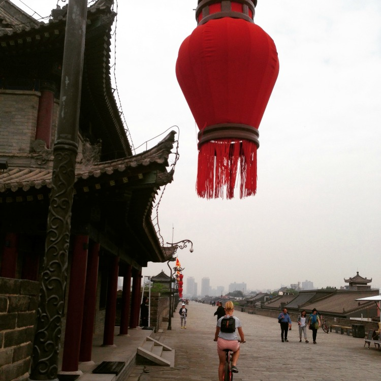 China: Red lanterns.... Riding the wall... #ThisisChina