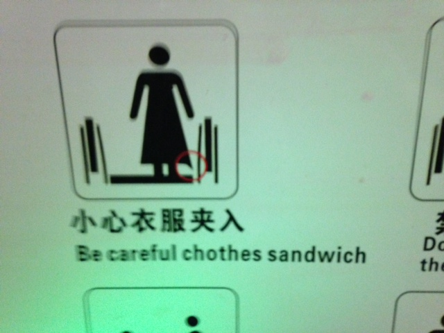 "Day 10: China ""Beware of clothes sandwich...."""